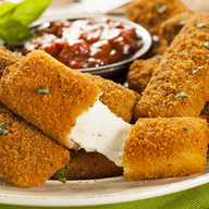 baked mozzarella sticks. Served with marinara